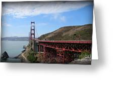 Golden Gate Bridge From The Scenic Lookout Point Greeting Card