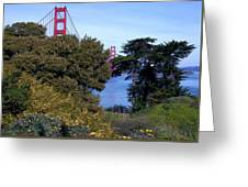 Golden Gate Bridge From Visitor Center Greeting Card