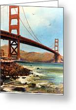 Golden Gate Bridge Looking North Greeting Card