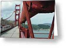 Golden Gate Bridge Low Point Of Cable Greeting Card