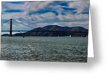 Golden Gate Bridge Panoramic Greeting Card