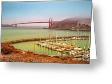 Golden Gate Bridge Sausalito Greeting Card