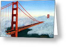Golden Gate Bridge Sunset Greeting Card