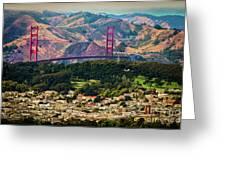 Golden Gate Bridge - Twin Peaks Greeting Card