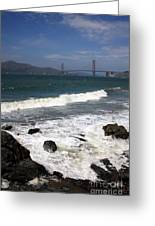 Golden Gate Bridge With Surf Greeting Card