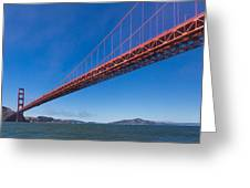 Golden Gate From The Bay Greeting Card