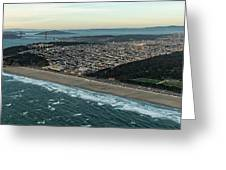 Golden Gate Park And Ocean Beach In San Francisco Greeting Card