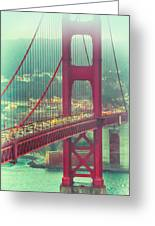 Golden Gate Portrait Greeting Card