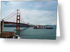 Golden Gate Ship Greeting Card