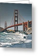 Golden Gate Surf Greeting Card