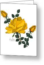Golden Glory Greeting Card
