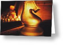 Golden Glow Knight Greeting Card