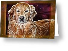Golden Glowing Retriever Greeting Card