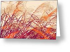 Abstract Pampas  Greeting Card