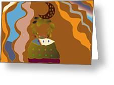 Golden Hair Greeting Card
