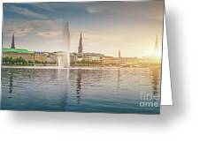 Golden Hamburg Greeting Card