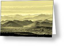 Golden Hills Of The Tonto Greeting Card