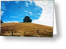 Golden Hills Summer Sky Greeting Card