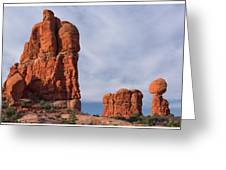 Golden Hoodoos Arches Np Greeting Card