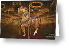 Golden Horse Greeting Card