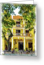 Golden Hotel Greeting Card