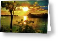 Golden Hour Beautiful Light Greeting Card