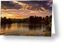 Golden Hour In New England Greeting Card