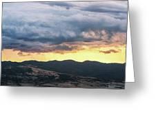 Golden Hour In Volterra Greeting Card