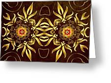 Golden Infinity Greeting Card