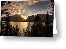 Golden Jenny Lake View Greeting Card