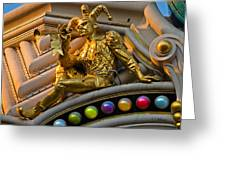 Golden Jester Greeting Card