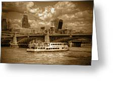 Golden Jubilee Party Boat Greeting Card