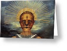 Golden Jungle Queen Greeting Card