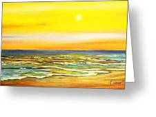 Sunset Beach  Greeting Card