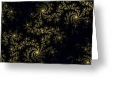 Golden Lace On Black Velvet Greeting Card