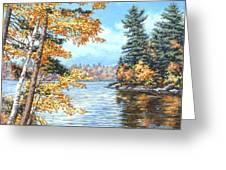 Golden Lake Greeting Card
