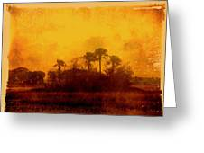Golden Land Greeting Card
