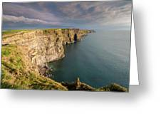 Golden Light At The Cliffs Of Moher Greeting Card