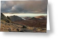 Golden Light Breaking On Slieve Bearnagh  Greeting Card