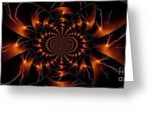 Golden Lightning Illusion Greeting Card
