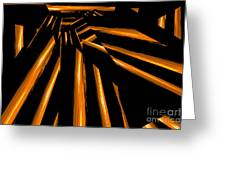 Golden Logs Greeting Card