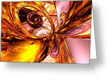 Golden Maelstrom Abstract Greeting Card