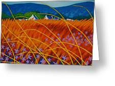 Golden Meadow Greeting Card