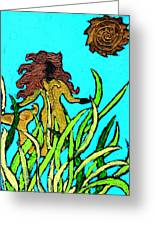 Golden Mermaid Greeting Card