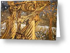 Golden Minstrels. Greeting Card