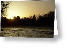 Golden Mississippi River Sunrise Greeting Card