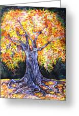 Golden Oak Greeting Card