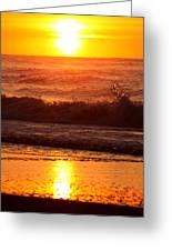 Golden Ocean City Sunrise Greeting Card