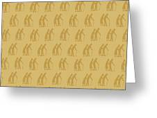 Golden Oldies Wallpaper Greeting Card