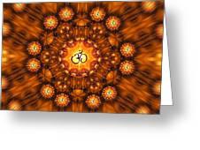 Golden Om Fracdala Greeting Card